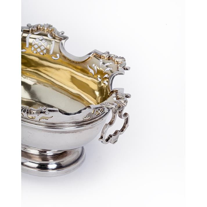 Zilveren kandijbakje Rotterdam 18e eeuw