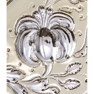 Zilveren sierschotel Zwolle 17e eeuw detail 1