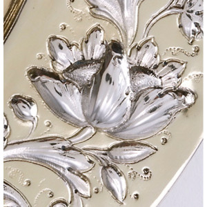 Zilveren sierschotel Zwolle 17e eeuw detail