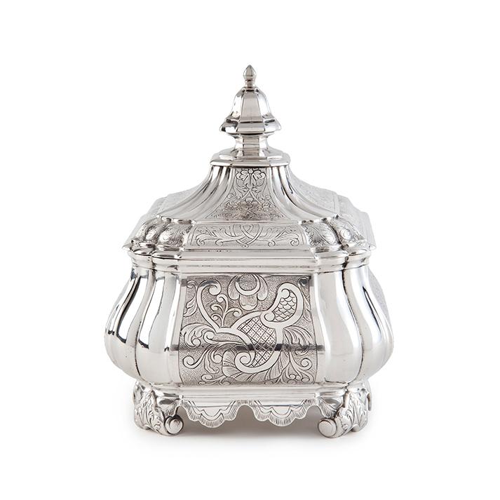 Zilveren tabakspot Amsterdam Jan Bot