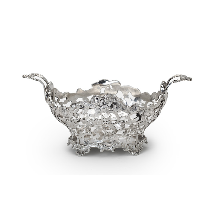 DUTCH SILVER BASKET, Steven Jan van Hengel, Amsterdam, 1770